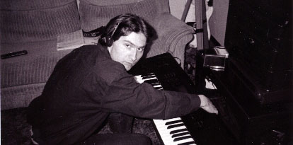 Daniel Kuciel testing out an early Nola Night Fuzz via his keyboard.